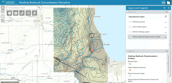 Northeastern Illinois Shallow Bedrock Aquifer Web App