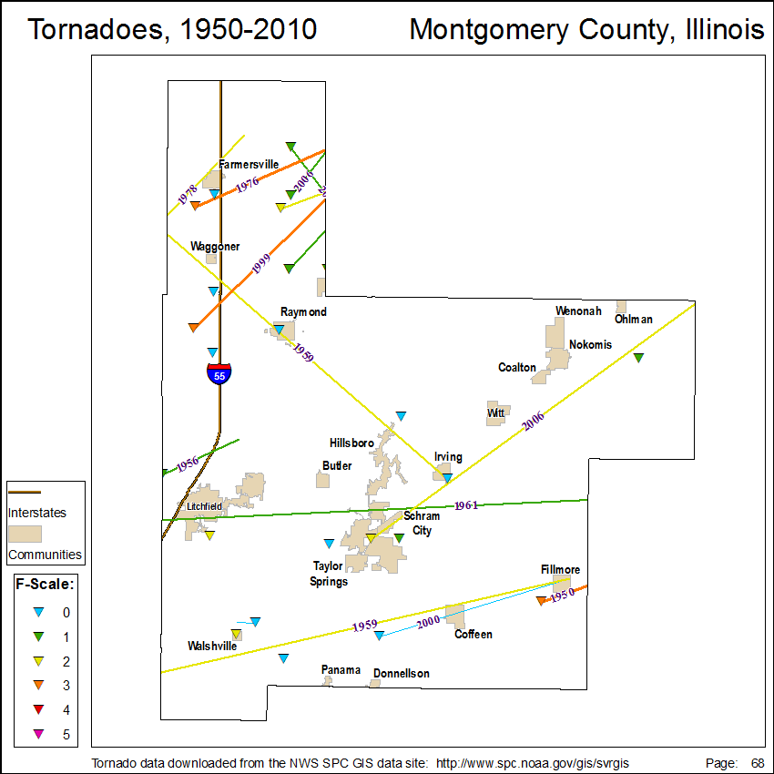 Tornado Maps For Illinois Illinois State Climatologist Office